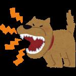 吠えてうるさい犬のイラスト